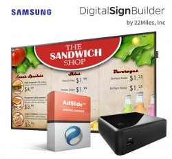 Digital Menu Board Solution featuring AdSlide Software by 22Miles