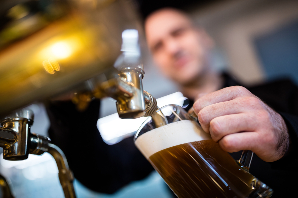 bartender filling glass