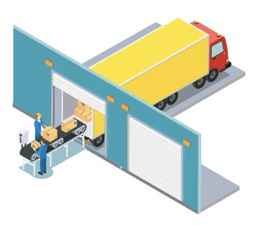 warehouse receiving illustration