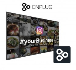 Interactive Social Media Wall by Enplug
