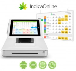 Marijuana Dispensary Point of Sale & Digital Menu Board Solution by IndicaOnline