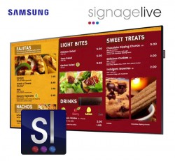 Digital Menu Board Bundle with Signagelive Software