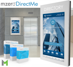 Interactive Wall Mount Kiosk Directory Solution by MzeroDirectMe
